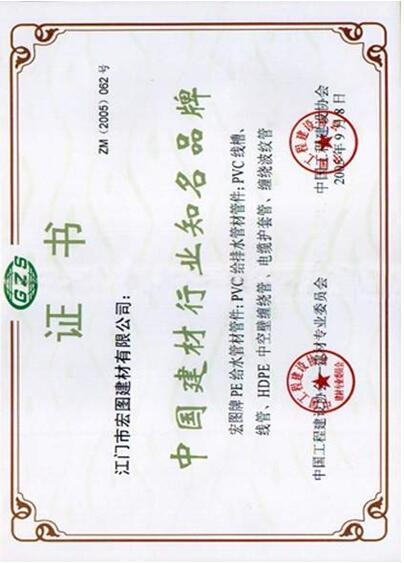 中国建材行业知名品牌